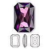 Embellishment, Swarovski crystal rhinestone, Crystal Passions®, amethyst, foil back, 27x18.5mm faceted emerald-cut fancy stone (4627). Sold individually.
