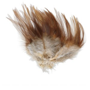 Feather, chicken (natural), 3x1 to 5x1-1/2 inch hackle. Sold per 0.05 ounce pkg, approximately 45 feathers.