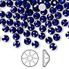 Flat back, Swarovski crystal rhinestone, Crystal Passions®, cobalt, foil back, 4.6-4.8mm Xilion rose (2058), SS20. Sold per pkg of 144 (1 gross).