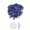 Flat back, Swarovski crystal rhinestone, Crystal Passions®, cobalt, foil back, 2.1-2.3mm Xilion rose (2058), SS7. Sold per pkg of 12.