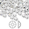 Flat back, Swarovski crystal rhinestone, Crystal Passions®, crystal clear, foil back, 4.6-4.8mm Xilion rose (2058), SS20. Sold per pkg of 144 (1 gross).