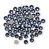 Flat back, Swarovski crystal rhinestone, Crystal Passions®, denim blue, foil back, 3-3.2mm Xilion rose (2058), SS12. Sold per pkg of 144 (1 gross).