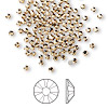Flat back, Swarovski crystal rhinestone, Crystal Passions®, light Colorado topaz, foil back, 2.1-2.3mm Xilion rose (2058), SS7. Sold per pkg of 144 (1 gross).