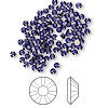 Flat back, Swarovski crystal rhinestone, Crystal Passions®, purple velvet, foil back, 2.5-2.7mm Xilion rose (2058), SS9. Sold per pkg of 144 (1 gross).