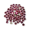 Flat back, Swarovski crystal rhinestone, Crystal Passions®, rose, foil back, 3-3.2mm Xilion rose (2058), SS12. Sold per pkg of 12.