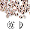 Flat back, Swarovski crystal rhinestone, Crystal Passions®, vintage rose, foil back, 4.6-4.8mm Xilion rose (2058), SS20. Sold per pkg of 144 (1 gross).