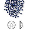 Flat back, Swarovski crystal rhinestone, dark indigo, foil back, 1.7-1.9mm Xilion rose (2058), SS5. Sold per pkg of 144 (1 gross).