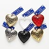 Focal, Blue Moon Beads®, resin and plastic, assorted colors, 50x50mm heart. Pkg/6.