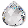 Focal, German crystal, crystal clear, 44x40mm faceted round teardrop. Sold per pkg of 20.