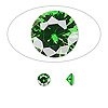 Gem, cubic zirconia, emerald green, 5mm faceted round, Mohs hardness 8-1/2. Sold per pkg of 2.
