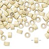 Hair crimp, aluminum and silicone, blonde, 5mm round tube with 3mm hole. Sold per pkg of 100.