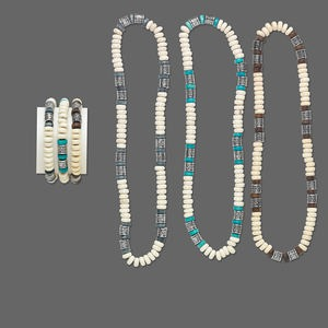 Necklace and bracelet mix stretch wood dyed coated for Jewelry just for fun