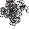 Jumpring, aluminum, gunmetal, 6mm round, 18 gauge. Sold per pkg of 100.