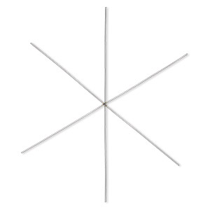 Ornament frame, carbon steel, 4-1/2 inch snowflake with 6 legs, 18 gauge. Sold per pkg of 10.