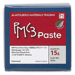 PMC3™ Precious Metal Clay, paste, silver. Sold per 15-gram bottle.
