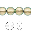 Pearl, Swarovski crystal, crystal iridescent green, 12mm coin (5860). Sold per pkg of 100.