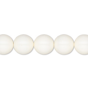 Pearl, Swarovski® crystal gemcolors, ivory, 10mm round (5810). Sold per pkg of 100.