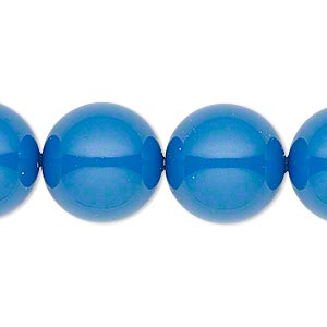 Pearl, Swarovski® crystal gemcolors, lapis, 16mm round with 1.3-1.5mm hole (5811). Sold per pkg of 25.
