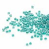 Seed bead, Delica®, glass, color-lined dark turquoise blue, (DB918), #11 round. Sold per 50-gram pkg.