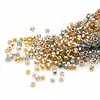 Seed bead, Delica®, glass, color-lined mix metallic, (DB981), #11 round. Sold per 50-gram pkg.