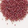 Seed bead, Delica®, glass, color-lined rhubarb, (DB283), #11 round. Sold per 7.5-gram pkg.