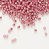 Seed bead, Delica®, glass, galvanized pink, (DB420), #11 round. Sold per 50-gram pkg.