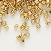 Seed bead, Delica®, glass, galvanized yellow gold, (DB410), #11 round. Sold per 7.5-gram pkg.