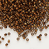 Seed bead, Delica®, glass, nickel-finished copper, (DB461), #11 round. Sold per 7.5-gram pkg.