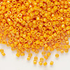 Seed bead, Delica®, glass, opaque light orange, (DB651), #11 round. Sold per 50-gram pkg.