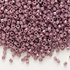 Seed bead, Delica®, glass, opaque luster fig brown, (DB265), #11 round. Sold per pkg of 7.5 grams.
