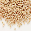 Seed bead, Delica®, glass, opaque matte luster pale brick, (DB389), #11 round. Sold per pkg of 50 grams.