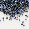 Seed bead, Delica®, glass, opaque matte metallic luster rainbow lavender blue, (DB1052), #11 round. Sold per pkg of 50 grams.