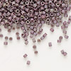 Seed bead, Delica®, glass, opaque matte metallic luster rainbow lavender, (DB1062), #11 round. Sold per pkg of 7.5 grams.