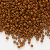 Seed bead, Delica®, glass, opaque matte tree bark brown, (DB794), #11 round. Sold per 50-gram pkg.