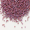 Seed bead, Delica®, glass, opaque metallic luster rainbow cherry, (DB1015), #11 round. Sold per pkg of 7.5 grams.