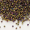 Seed bead, Delica®, glass, opaque metallic rainbow bronze, (DB23), #11 round. Sold per 7.5-gram pkg.