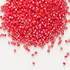 Seed bead, Delica®, glass, opaque rainbow sunset red, (DB159), #11 round. Sold per pkg of 7.5 grams.
