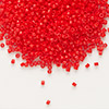 Seed bead, Delica®, glass, opaque red, (DB727), #11 round. Sold per pkg of 50 grams.