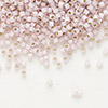 Seed bead, Delica®, glass, silver-lined opal petunia, (DB1457), #11 round. Sold per pkg of 7.5 grams.