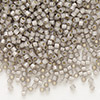 Seed bead, Delica®, glass, silver-lined opal taupe, (DB1456), #11 round. Sold per pkg of 50 grams.