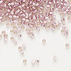Seed bead, Delica®, glass, silver-lined rose, (DB1434), #11 round. Sold per pkg of 50 grams.