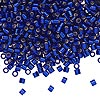 Seed bead, Delica®, glass, silver-lined transparent cobalt blue, (DBL47), #8 round, 1.5mm hole. Sold per pkg of 7.5 grams.