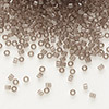 Seed bead, Delica®, glass, transparent crystal charcoal, (DB1417), #11 round. Sold per pkg of 7.5 grams.