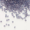 Seed bead, Delica®, glass, transparent matte luster violet, (DB386), #11 round. Sold per pkg of 7.5 grams.