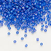 Seed bead, Delica®, glass, transparent matte rainbow blueberry, (DB864), #11 round. Sold per pkg of 50 grams.