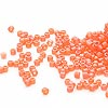 Seed bead, Delica®, glass, transparent matte rainbow carrot, (DB855), #11 round. Sold per pkg of 50 grams.