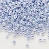 Seed bead, Dyna-Mites™, glass, ceylon pastel light blue, #8 round. Sold per 1/2 kilogram pkg.