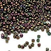 Seed bead, Dyna-Mites™, glass, iris purple, #11 round. Sold per 1/2 kilogram pkg.
