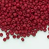Seed bead, Dyna-Mites™, glass, opaque matte brick red, #8 round. Sold per 1/2 kilogram pkg.