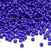 Seed bead, Dyna-Mites™, glass, opaque medium blue, #11 round. Sold per 1/2 kilogram pkg.